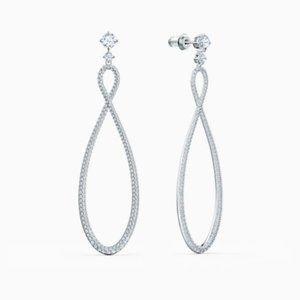 Swarovski Infinity platinum earrings
